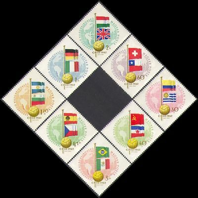 Hungary 1962 Football World Cup/WC/Sports/Games/Soccer/Flags 8v set (n34970)