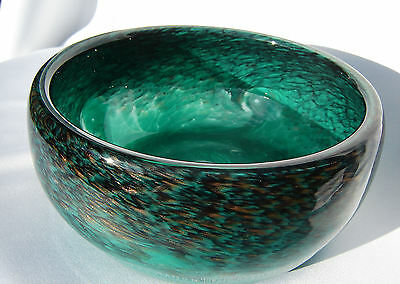 Vasart Strathearn Art Glass Bowl Hand Made in Crieff Scotland