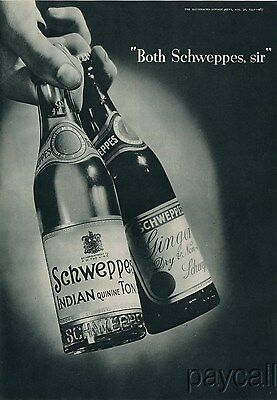 1941 Ad Schweppes Indian quinine Tonic Ginger Dry