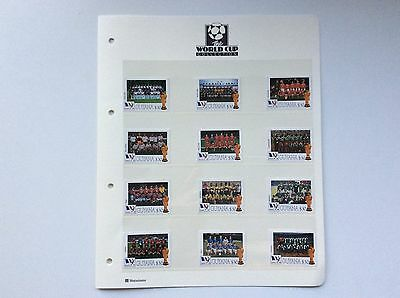 12 X World Cup Football Championship, France.  1998. Stamps.