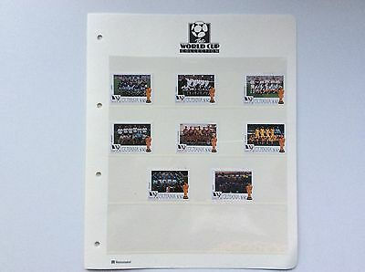 8 X World Cup Football Championship, France.  1998. Stamps.