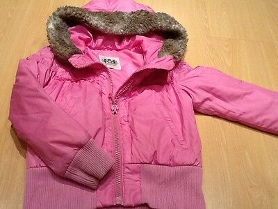 Girls Pink JUICY COUTURE Hooded Jacket - Approx Age 5
