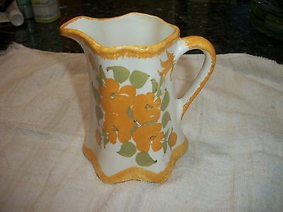 Vintage Clinchfield Artware Small Pitcher - Yellow flowers - NR