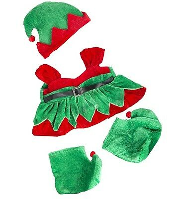 "Santa's little helper Christmas Girl Elf outfit clothes fit 15"" Build a Bear"