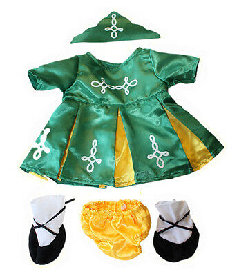 Irish Dress Costume Clothes to fit 14-18in (40cm) build a bear plush teddy