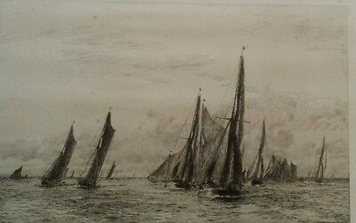 """W.L.Wyllie signed artist proof Marine Etching. """"The Jenkins Swatchway"""""""