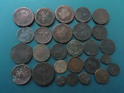27 Early Milled Coins. British.