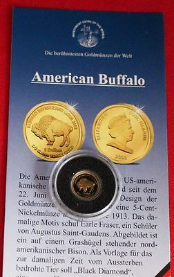 Cook Islands 5 Dollars 2008 PP Gold American Buffalo