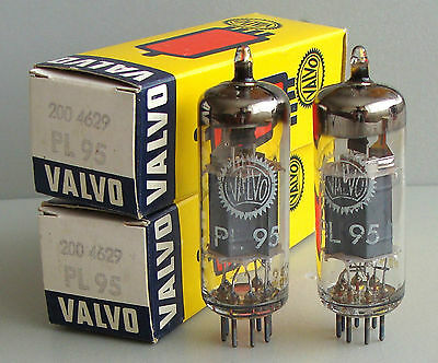 Matched pair Valvo (from Siemens) PL95 (4DL4) tubes, NIB