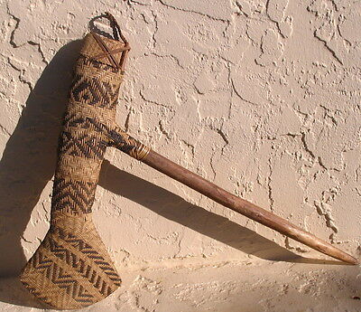 Unusual Old African Mount Hagen in New Guinea Woven Tool Axe No Reserve 39.99