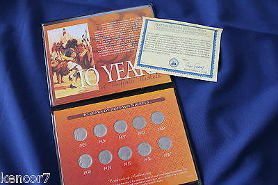 1925-1937 Ten Years of Buffalo Nickels Collection of 10 Coins E2962