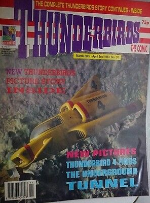Thunderbirds - The Comic. No 38 March 20th -  April 2nd. ITC.