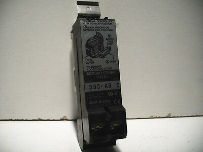 Allen Bradley 595-Ab Auxiliary Contact Block 1No/1Nc Size 0-5 New! Quantity!