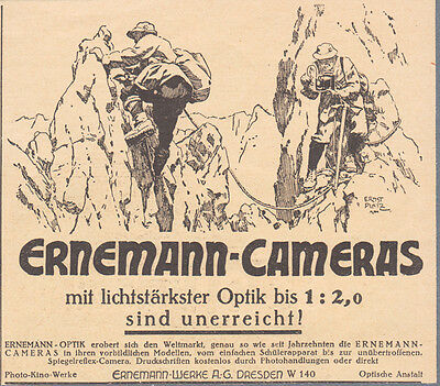 1926 Print Ad Ernemann Photo Camera Tourists