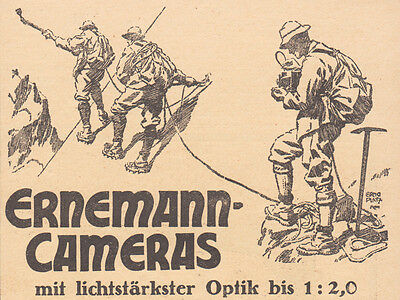 1926 Print Ad Ernemann Photo Camera Alpinist Mountaineers