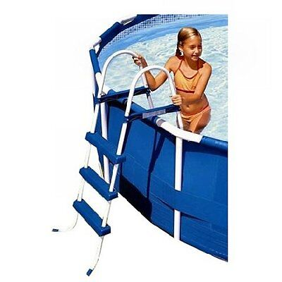 """Intex 36"""" Above Ground A Frame Swimming Pool Ladder with Barrier 