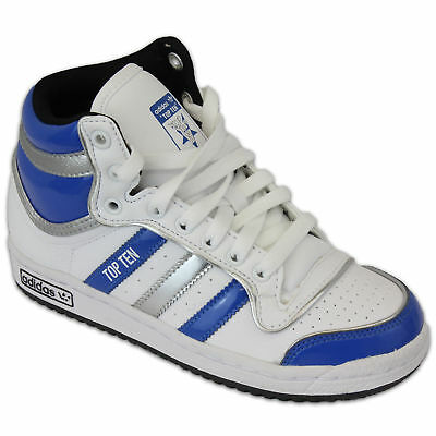 Kids ADIDAS TOP TEN Trainers Boys Girls Leather Infants Skate High Ankle Flat