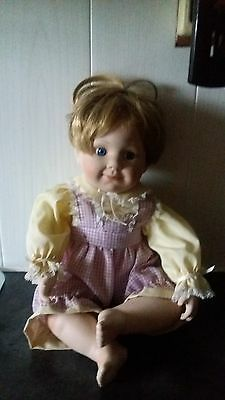 """Porcelain doll 10"""" in height"""