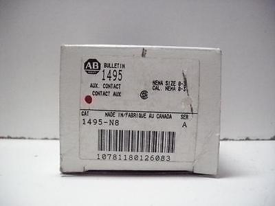 Allen-Bradley 1495-N8 Auxiliary Contact New In Box!!