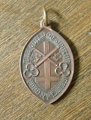 Bronze oval  medallion THE GUILD OF ST. PETER  - Vaughton Birm.(PM959)