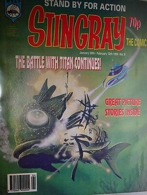 Stingray - The Comic. No 9.January 30th - February 12th 1993. ITC.