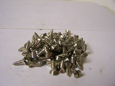 "#7 x 1/2"" Oval Head Nickel Plated Steel Screws Slotted Qty. 100"