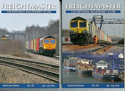 Two Freightmaster Railfreight Timetables April To Sept 2016 Editions 81-82 Mint