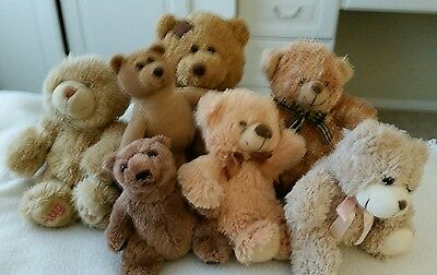 Collection of 7 TEDDY BEARS - Immaculate Condition - Perfect Christmas Gifts!