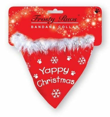 Christmas Dog Bandana Collar Yappy Christmas Xmas Grooming Bandanna Clothes Gift
