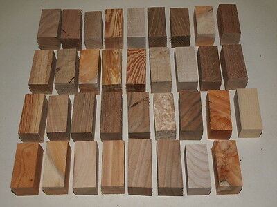 35 Pieces Seasoned Cord Pull Blanks Yew,oak,elm,ash,pine,sycamore  Woodturning