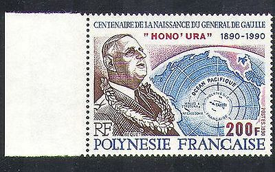 French Polynesia 1990 Charles de Gaulle/People/Military/Politics 1v (n37453)