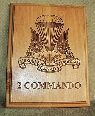 Canada Army Canadian Airborne Regiment ( 2 COMMANDO ) Engraved Wooden Plaque