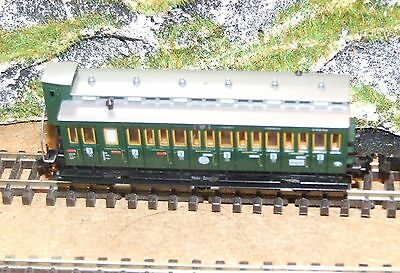 FLEISCHMANN 8094 DRG 3rd class coach with brake cab 3 axle with centre floating