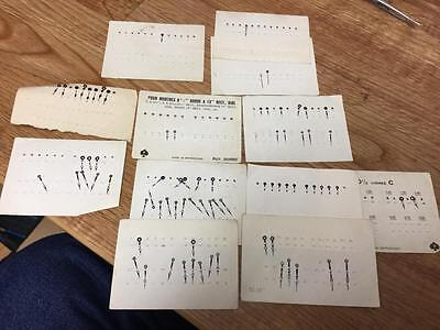 Great Selection Of Vintage Blued Steel Watch Hands Still On Cards