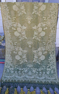 2 Antique 19th 18th Neoclassical Motif Jaquard Woven Panels Curtains ? Tapestry