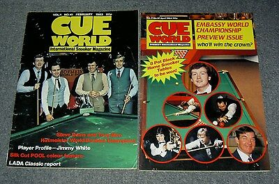 Vintage Cue World Snooker Magazines,rare Magazine Lot Of Two.early 1980's.b48