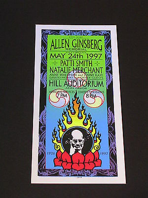 ALLEN GINSBERG MEMORIAL with PATTI SMITH Psychedelic Postcard by MARK ARMINSKI