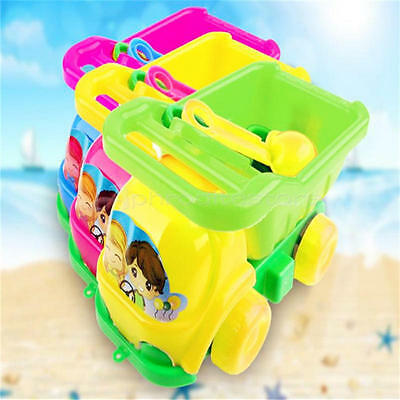 New 4pcs Beach Sand Tool Car Truck Shovel Bucket Play Kids Water Plastic Toy