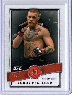 Connor Mcgregor 2016 Topps Museum Collection Ruby Red Parallel #1/25 First One!