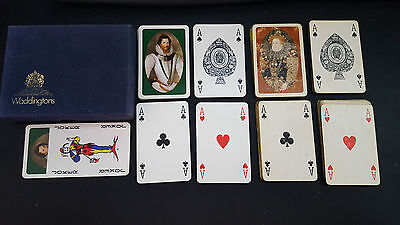 Waddingtons Playing cards with Royalty printed on them: 2 complete packs