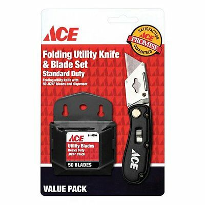 Ace Hardware Folding Utility Knife and Blade Set with 50 Blades | 2199644