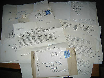 WW2 Home Front PORTSMOUTH FIREWOMAN Letters