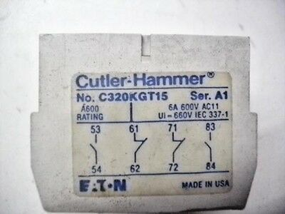 Cutler-Hammer C320Kgt15 A1 Auxiliary Contact