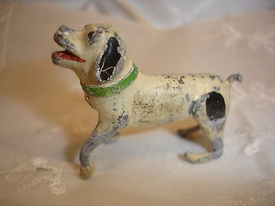 Old Painted Pot Metal tiny Fox Terrier Dog