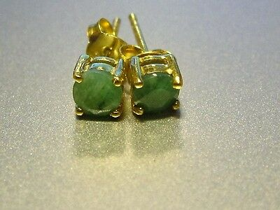 Silver Emerald Earrings Real Stones