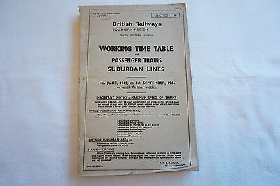 1965 BR Working Timetable Southern South Western Division Section B