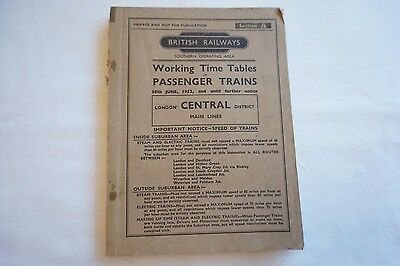 1952 BR Working Timetable Southern Region London Central District Section A