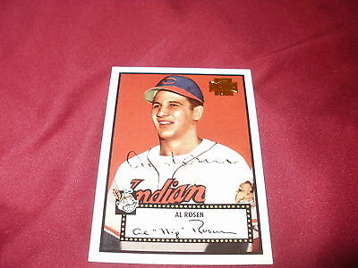 Signed Al Rosen, Cleveland Indians , Topps Archive Card 2001
