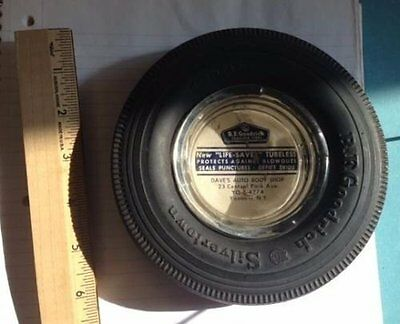 Vintage Tire Ashtray B.F. Goodrich Silvertown - Dave's Auto Body Yonkers NY