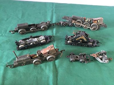LOT OF HORNBY TRIANG etc OO GAUGE BOGIES SOME WITH MOTORS FOR SPARES OR REPAIR